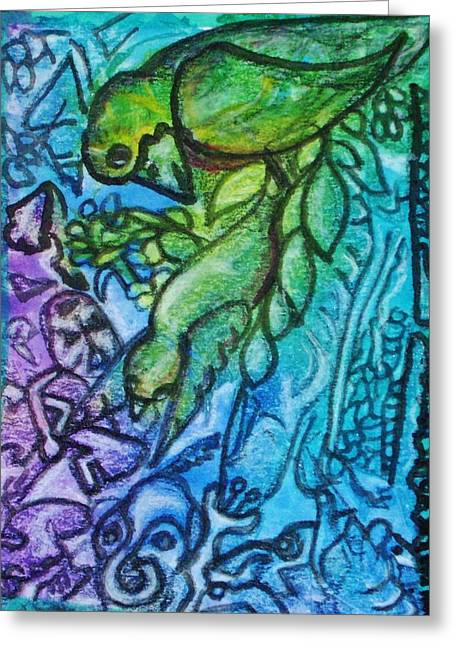 Airy Kcritters Greeting Card by Mimulux Patricia No