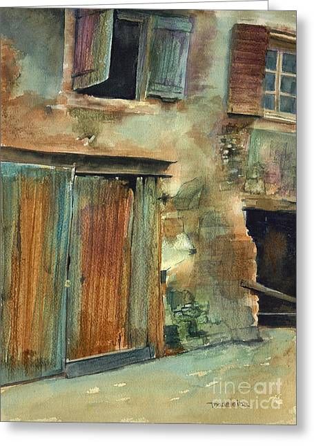 French Doors Greeting Cards - Aix-en-Provence Greeting Card by Madeleine Holzberg