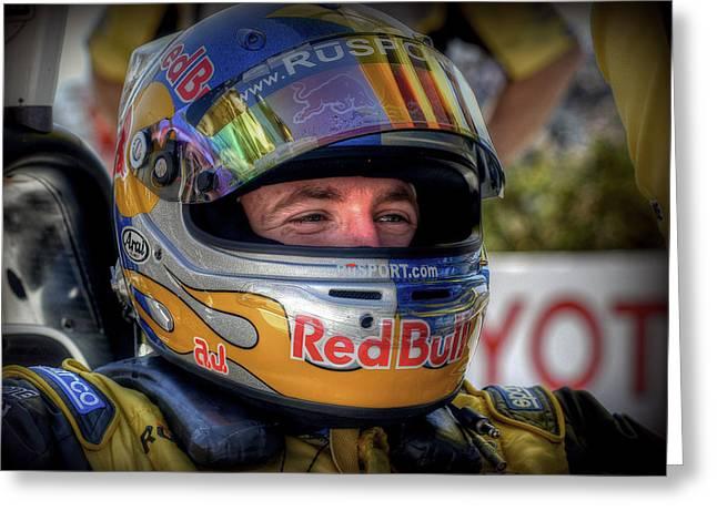Indy Car Greeting Cards - Aj 2 Greeting Card by Craig Incardone
