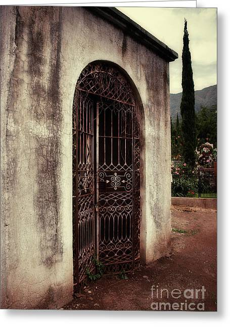 Entryway Greeting Cards - Ajijic Cemetary Crypt Greeting Card by Susan Isakson