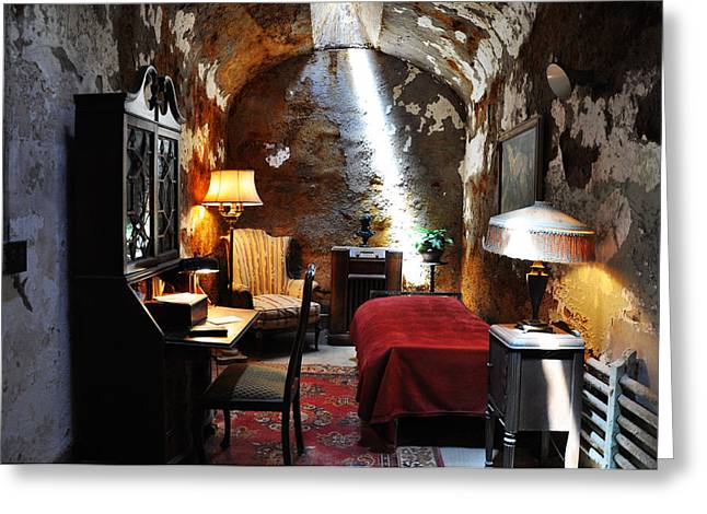Eastern State Greeting Cards - Al Capones Cell - Eastern State Penitentiary Greeting Card by Bill Cannon