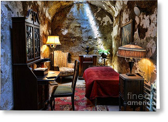 Eastern State Greeting Cards - Al Capones Cell - Scarface - Eastern State Penitentiary Greeting Card by Paul Ward