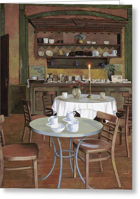 Drinks Greeting Cards - Al Lume Di Candela Greeting Card by Guido Borelli
