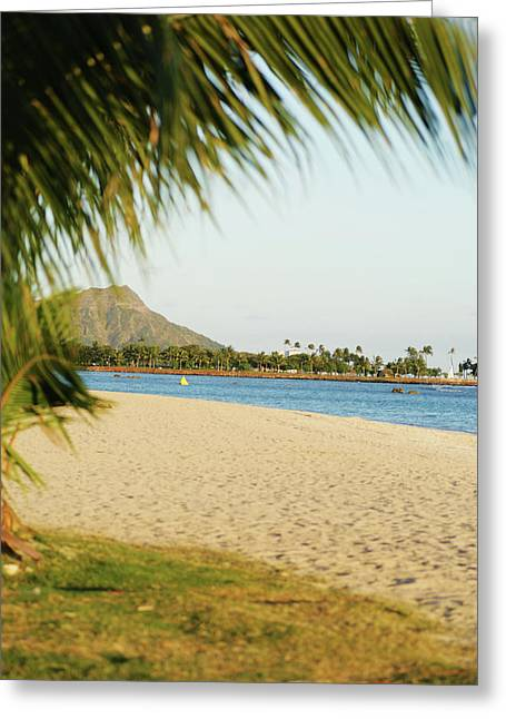 Ala Moana Greeting Cards - Ala Moana Beach Park Greeting Card by Sri Maiava Rusden - Printscapes