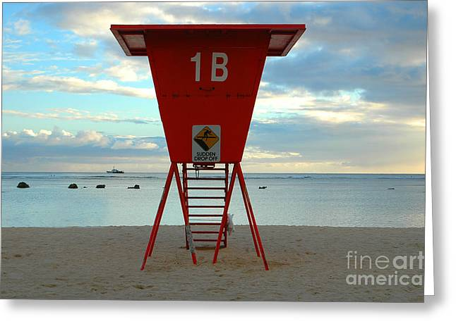 Ala Moana Greeting Cards - Ala Moana Lifeguard Station Greeting Card by Mark Gilman