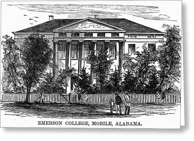 Freedman Greeting Cards - Alabama: Emerson College Greeting Card by Granger
