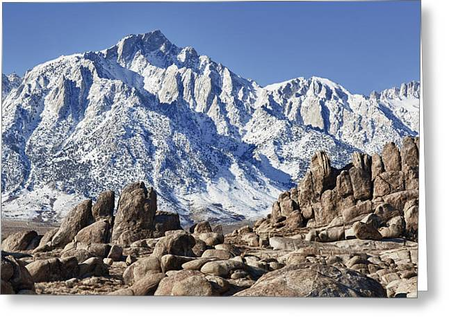 Mount Whitney Greeting Cards - Alabama Hills Greeting Card by Gary Zuercher