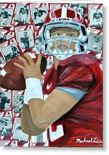 Alabama Quarterback Greeting Card by Michael Lee