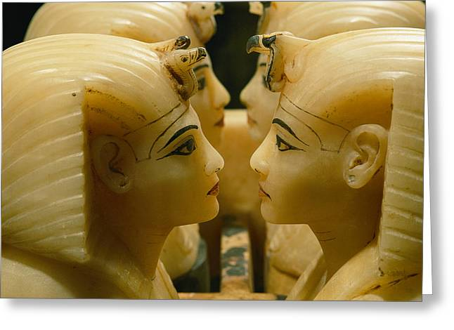 Alabaster Greeting Cards - Alabaster Carvings Found In The Tomb Greeting Card by Kenneth Garrett