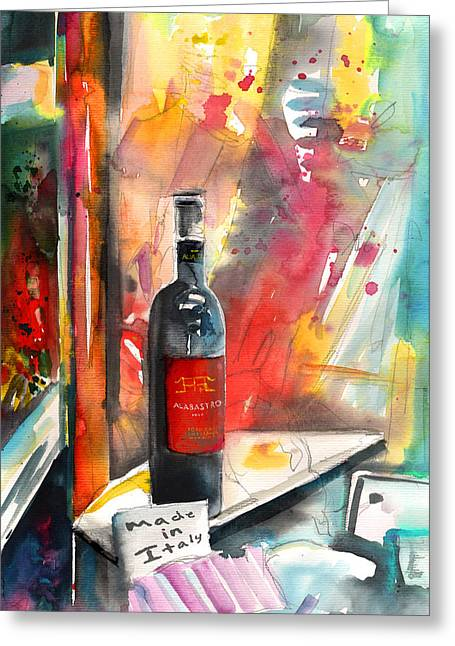 Italian Wine Greeting Cards - Alabastro Wine from Italy Greeting Card by Miki De Goodaboom