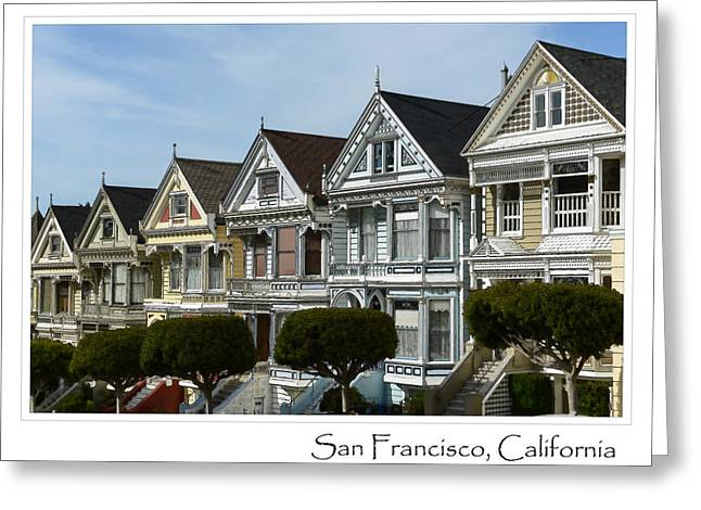 Alamo Square Greeting Cards - Alamo Square San Francisco California Greeting Card by Brandon Bourdages