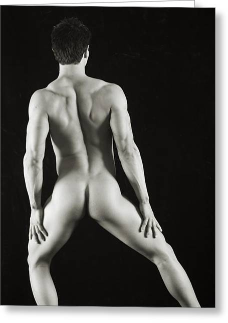 Fitness Model Greeting Cards - Alan 3 Greeting Card by Thomas Mitchell