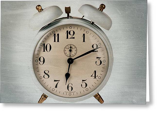 Alarm Clock Greeting Card by Bernard Jaubert