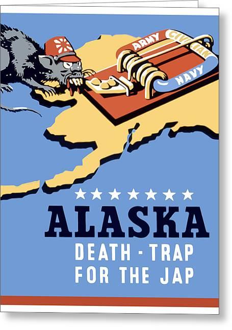 Alaska Greeting Cards - Alaska Death Trap Greeting Card by War Is Hell Store