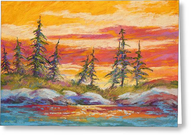 North Side Greeting Cards - Alaskan Skies Greeting Card by Marion Rose