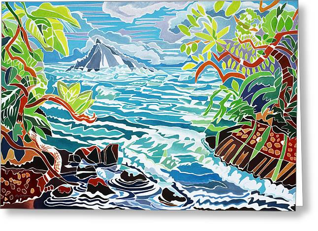 Overhang Paintings Greeting Cards - Alau Island Greeting Card by Fay Biegun - Printscapes