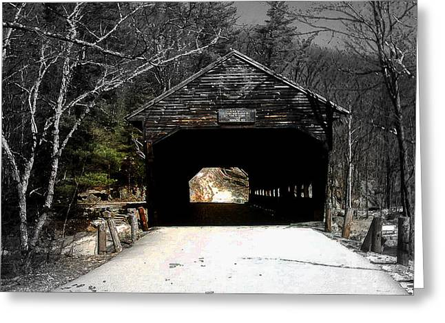 Landscape Framed Prints Greeting Cards - Albany Covered Bridge  Greeting Card by Marie Jamieson