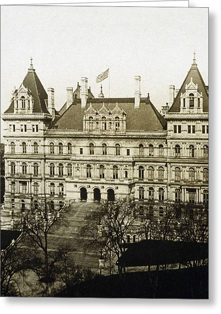 Albany New York - State Capitol Building - C 1900 Greeting Card by International  Images