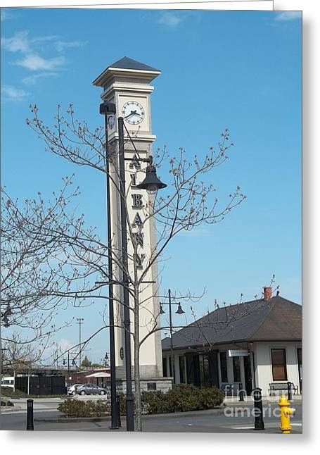 Albany Oregon Train Station Greeting Card by Melissa Randolph