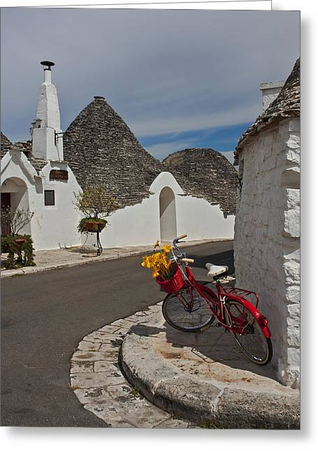 Alberobello - Apulia Greeting Card by Joana Kruse