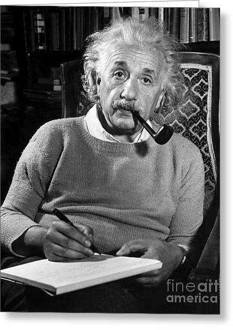 North American Greeting Cards - Albert Einstein Greeting Card by Granger