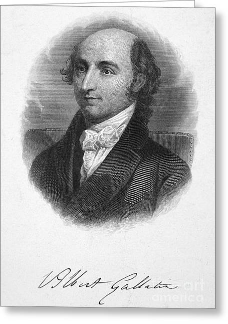 Autograph Greeting Cards - Albert Gallatin (1761-1849) Greeting Card by Granger