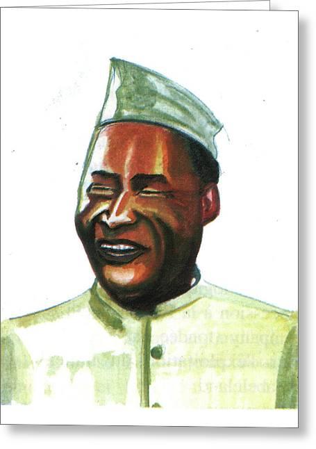 Albert John Luthuli Greeting Card by Emmanuel Baliyanga