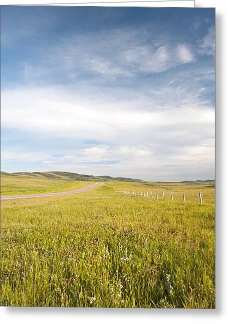 Alberta Foothills Landscape Greeting Cards - Alberta Canada landscape Greeting Card by Marlene Ford
