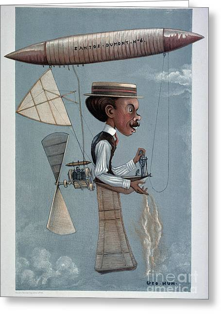 1901 Greeting Cards - Alberto Santos-dumont Greeting Card by Granger