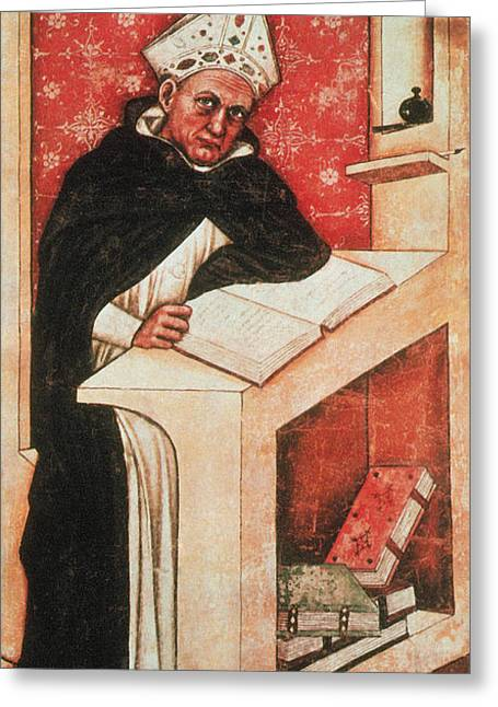 Albertus Magnus, Medieval Philosopher Greeting Card by Photo Researchers