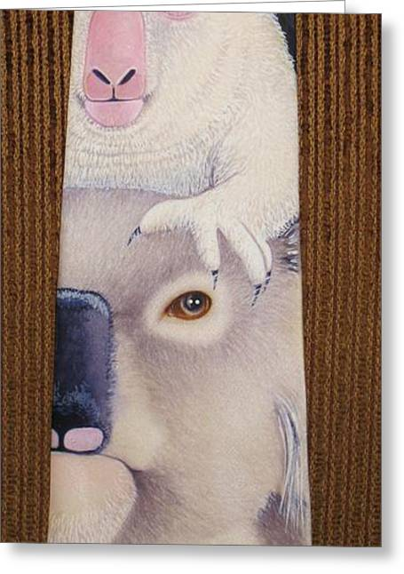 Mother Tapestries - Textiles Greeting Cards - Albino Baby - CLOSE UP Greeting Card by David Kelly