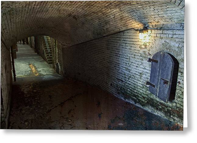 Forboding Greeting Cards - Alcatraz 1866 Tunnel Greeting Card by Daniel Hagerman