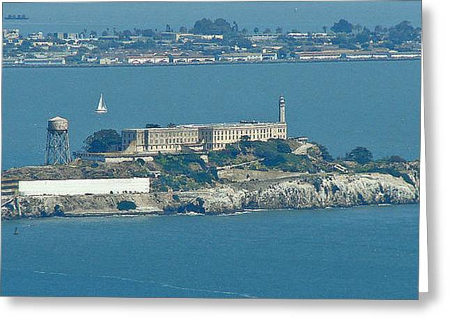 Alcatraz In April Greeting Card by Suze Taylor