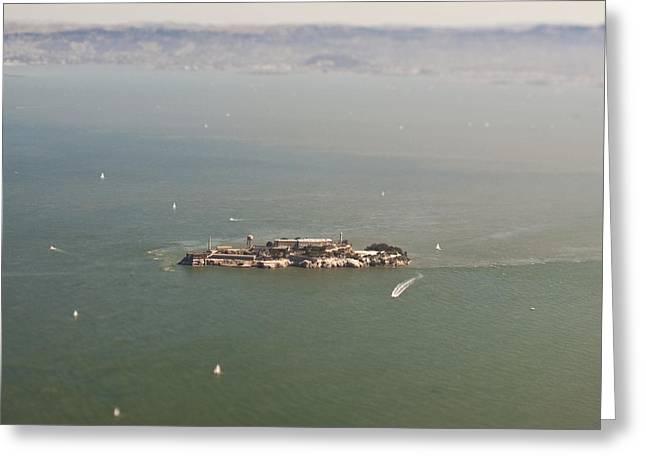 Alcatraz Greeting Cards - Alcatraz Island Greeting Card by Eddy Joaquim