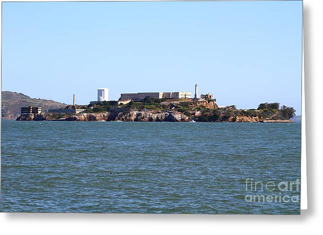 Alcatraz Island in San Francisco California . West Side . 7D14007 Greeting Card by Wingsdomain Art and Photography