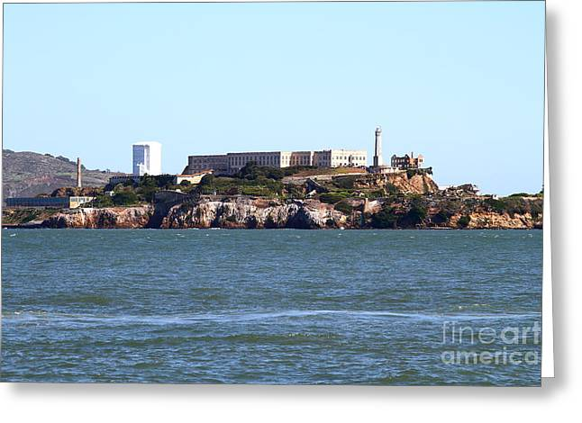 Alcatraz Greeting Cards - Alcatraz Island in San Francisco California . West Side . 7D14031 Greeting Card by Wingsdomain Art and Photography