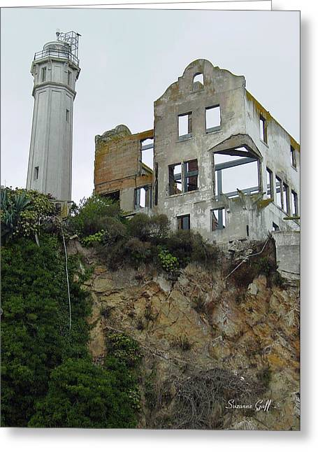 Alcatraz Lighthouse Greeting Cards - Alcatraz View II Greeting Card by Suzanne Gaff
