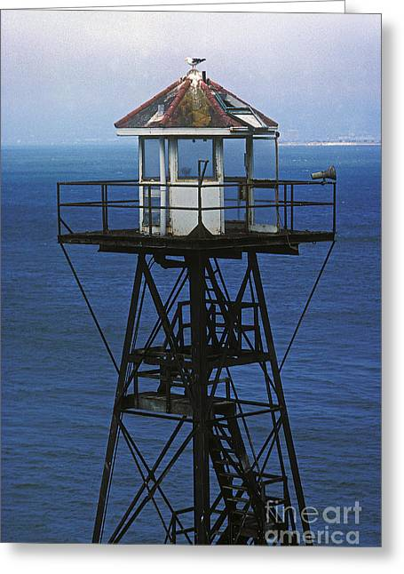 Alcatraz Greeting Cards - Alcatraz Watch Tower Greeting Card by Paul W Faust -  Impressions of Light