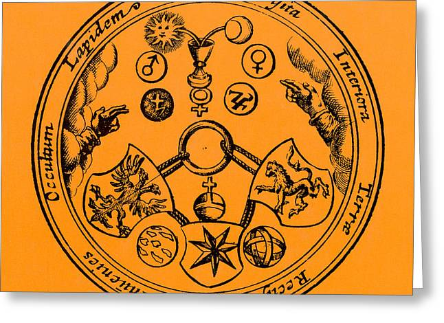 Het Greeting Cards - Alchemical Symbols, 1670 Greeting Card by Science Source