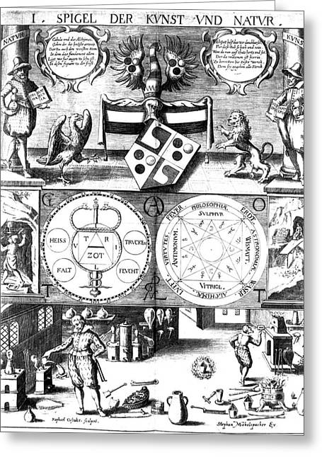 Alchemical Treatise Greeting Card by Science Source