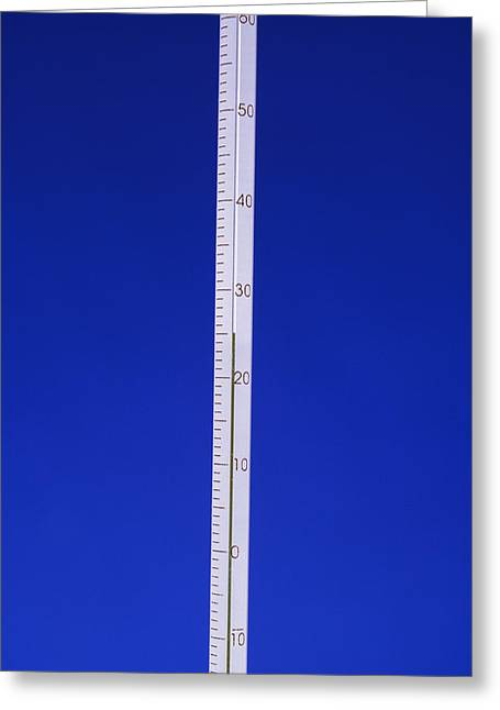 Temperature Greeting Cards - Alcohol Thermometer Greeting Card by Andrew Lambert Photography