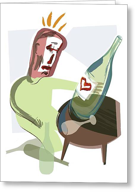 Out Of Control Greeting Cards - Alcoholism, Conceptual Artwork Greeting Card by Paul Brown