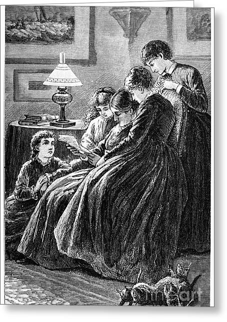 Meg Greeting Cards - Alcott: Little Women Greeting Card by Granger