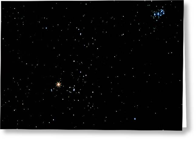 Constellations Photographs Greeting Cards - Aldebaran Star In The Constellation Of Taurus Greeting Card by John Sanford