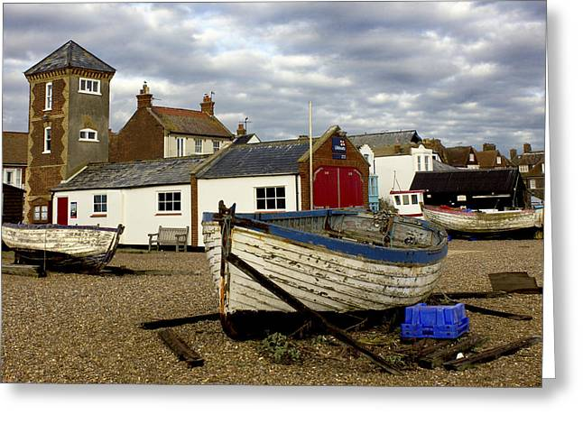 Aldeburgh Greeting Cards - Aldeburgh Boats Greeting Card by Darren Burroughs