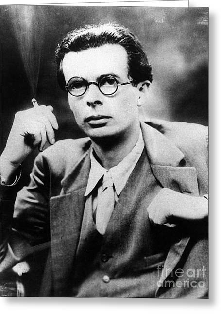 Aldous Huxley Greeting Cards - Aldous Huxley (1894-1963) Greeting Card by Granger