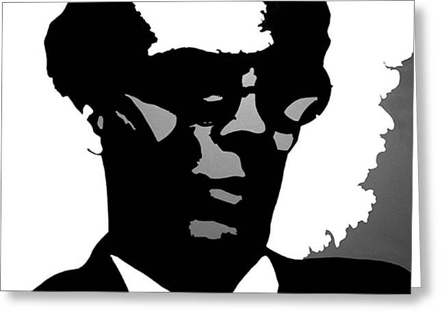 Aldous Huxley Greeting Cards - Aldous Huxley Greeting Card by Adam Winnie