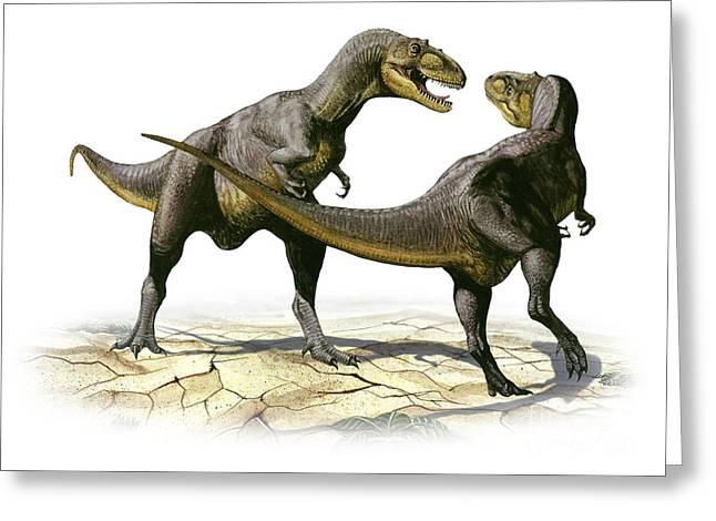 Alectrosaurus Olseni, A Prehistoric Greeting Card by Sergey Krasovskiy