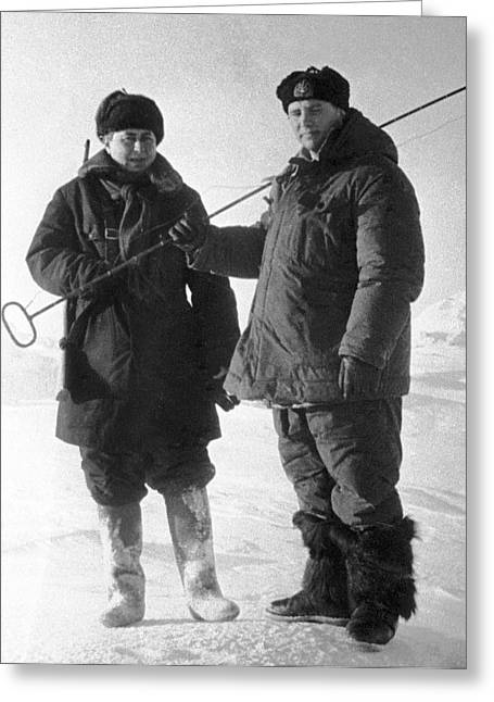 Surname T Greeting Cards - Aleksei Treshnikov, Arctic Explorer Greeting Card by Ria Novosti