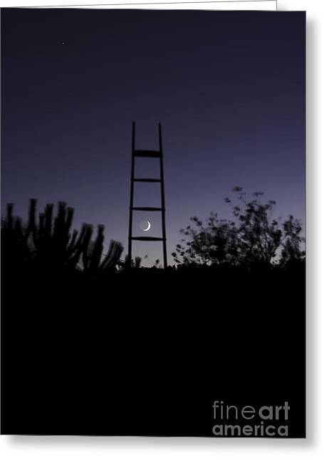 Lunar Crescent Greeting Cards - Alentejo. Portugal - Crescent Moon Greeting Card by Miguel Claro